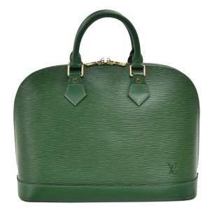 """حقيبة لوي فيتون """"ألما PM"""" جلد ايبي أخضر"""