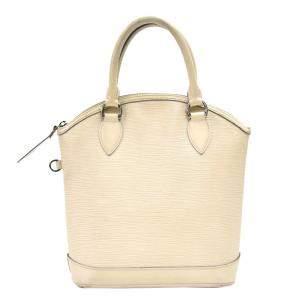 Louis Vuitton White Epi Leather Lockit PM Bag