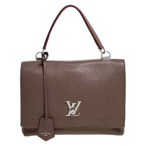 Louis Vuitton Brown Leather Lockme II Bag
