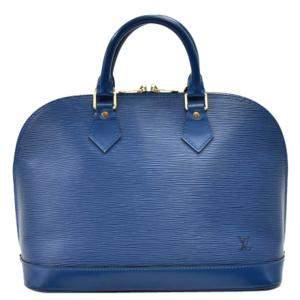 حقيبة لوي فيتون ألما جلد أيبي زرقاء