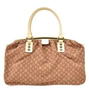 Louis Vuitton Brown  Monogram Mini Lin Trapeze GM Bag