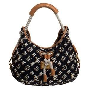 Louis Vuitton Navy Blue Monogram Nylon Limited Edition Bulles MM Bag