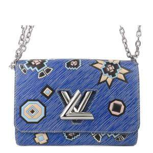 Louis Vuitton Blue Epi Leather Azteque Twist MM Bag