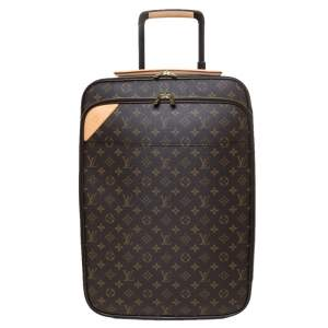 """حقيبة سفر لوي فيتون """"بيزنس بيغاس ليغير 55"""" كانفاس مونوغرامي"""