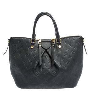 Louis Vuitton Black Monogram Empreinte Leather Mazarine MM Bag