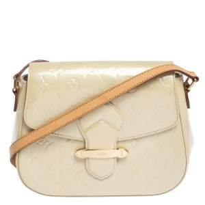Louis Vuitton Blanc Corail Monogram Vernis Bellflower PM Bag