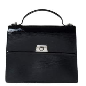 Louis Vuitton Black Electric Epi Leather Sevigne GM Bag