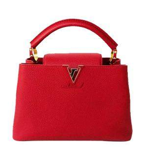 Louis Vuitton Coquelicot Taurillon Leather Capucines BB Bag