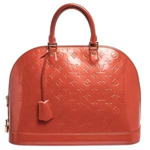Louis Vuitton Orange Sunset Monogram Vernis Alma GM Bag