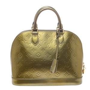 Louis Vuitton Vert Olive Monogram Vernis Leather Alma PM Bag