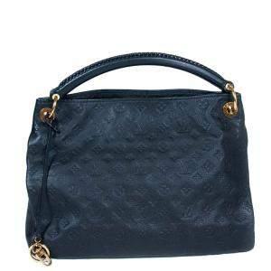 Louis Vuitton Navy Blue Monogram Empreinte Leather Artsy MM Bag