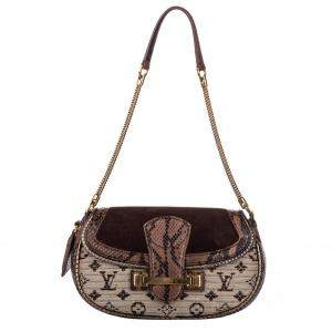 Louis Vuitton Brown Python Leather Monogram Empire Levant Bag