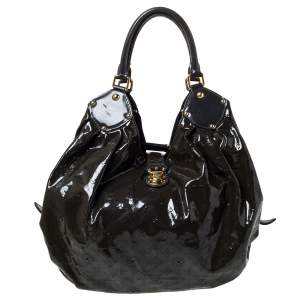 Louis Vuitton Emeraude Monogram Mahina Patent Leather L Bag