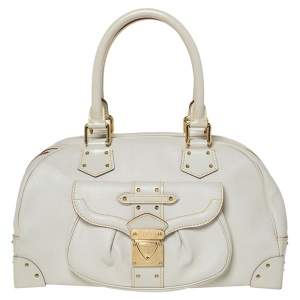 Louis Vuitton White Suhali Leather Suhali Le Superbe Bag