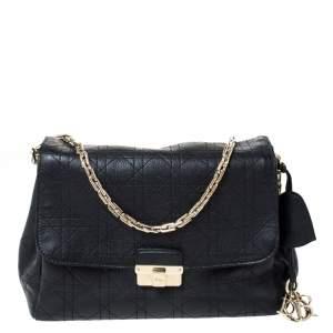 Dior Black Cannage Leather Large Diorling Shoulder Bag
