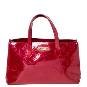 Louis Vuitton Rose Pop Vernis Wilshire PM Bag