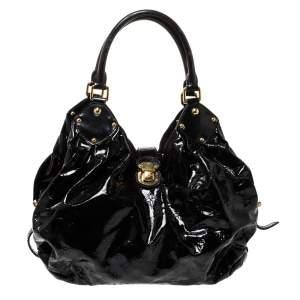Louis Vuitton Black Mahina Patent Leather Limited Edition Surya L Bag