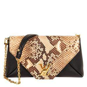 Louis Vuitton Black Python Leather Mylockme Bag