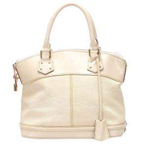 Louis Vuitton White Leather Suhali Lockit PM Bag