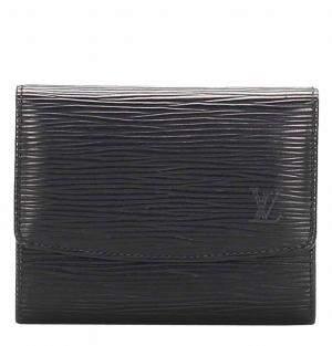 Louis Vuitton Black Epi Leather  Porte Monnaie Billets Tresor Wallet