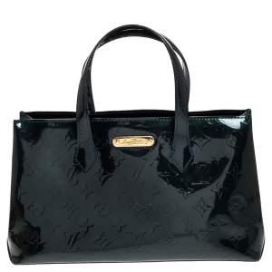 Louis Vuitton Bleu Nuit Monogram Vernis Wilshire PM Bag