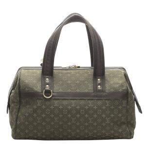 Louis Vuitton Green/Dark Green Mini Lin Canvas Josephine GM Bag