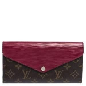 Louis Vuitton Carmine Monogram Canvas and Epi Leather Marie-Lou Wallet