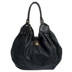 Louis Vuitton Black Monogram Mahina Leather XL Bag
