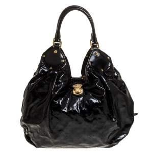 Louis Vuitton Black Mahina Patent Leather Limited Edition Surya XL Bag