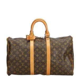 Louis Vuitton Monogram Canvas Large Keepall 45 Duffel Bags
