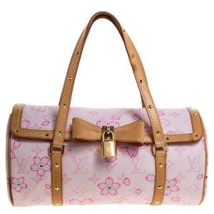 Louis Vuitton Pink Monogram Canvas Limited Edition Cherry Blossom Papillon Bag