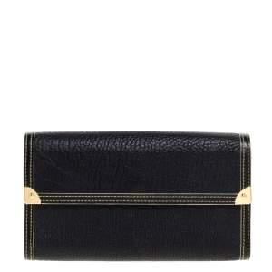 Louis Vuitton Black Suhali Leather Porte-Tresor International Wallet