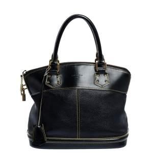 Louis Vuitton Black Suhali Leather Lockit PM Bag