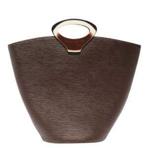 حقيبة لوي فيتون نوكتامبول جلد إيبي بني
