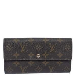 Louis Vuitton Monogram Canvas Sarah Continental Wallet