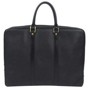 Louis Vuitton Black Epi Leather Porte-Documents Voyage Briefcase