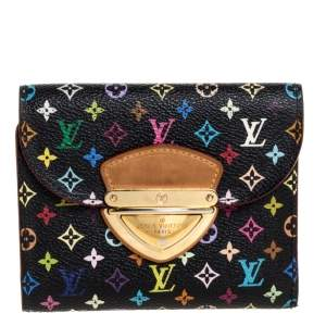 Louis Vuitton Black Multicolor Monogram Canvas Joey Wallet
