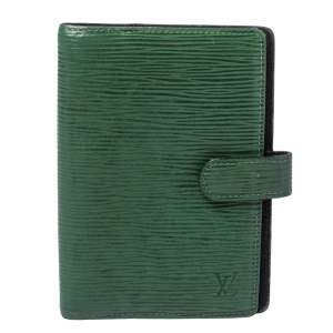 Louis Vuitton Borneo Green Epi Leather Small Ring Agenda Cover