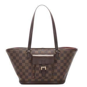 Louis Vuitton Damier Ebene Canvas Manosque PM Bag