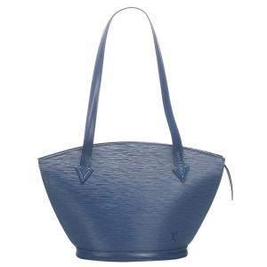 حقيبة لوي فيتون حمالة طويلة سان جاكز جلد أيبي زرقاء PM