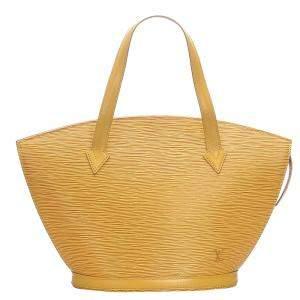 Louis Vuitton Yellow Leather Saint Jacques PM Bag