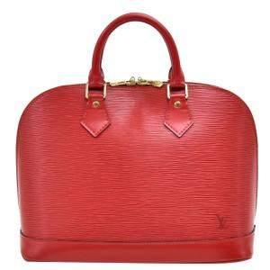 """حقيبة لوي فيتون """"ألما پي إم"""" جلد أحمر"""