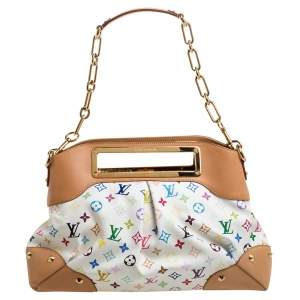 Louis Vuitton White Multicolore Monogram Canvas Judy GM Bag