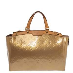 Louis Vuitton Vert Olive Monogram Vernis Brea GM Bag