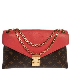 Louis Vuitton Litchi Monogram Canvas Pallas Chain Bag