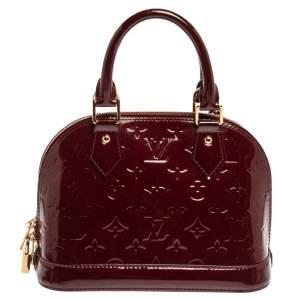 Louis Vuitton Griotte Monogram Vernis Leather Alma BB Bag