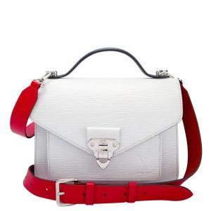 """حقيبة لوي فيتون """"نيو مونكو"""" جلد إيبي أبيض"""