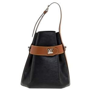 Louis Vuitton Black Epi Leather Twist Bucket Bag