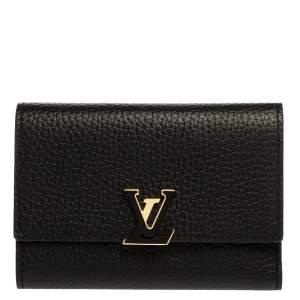Louis Vuitton Black Taurillon Leather Capucines Wallet