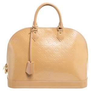 Louis Vuitton Noisette Monogram Vernis Alma GM Bag